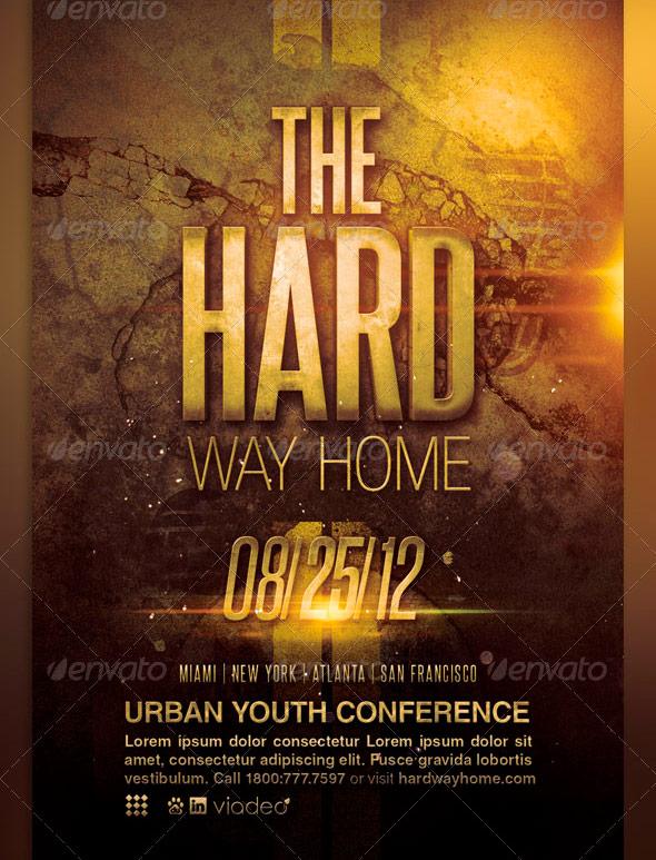 Hard Way Home Church Flyer Template