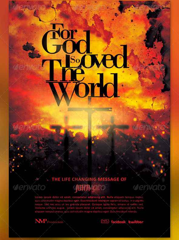 God So Loved The World Flyer and CD Template