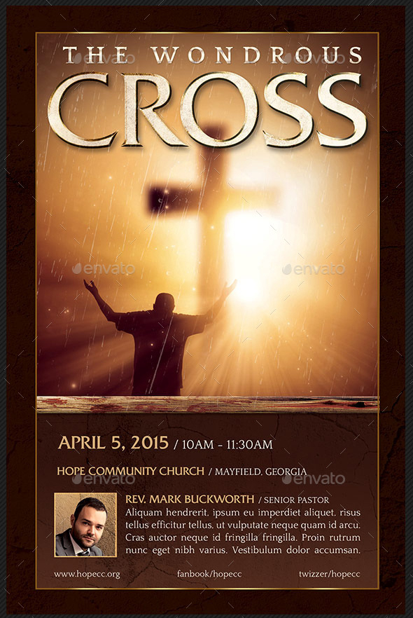 Wondrous Cross Flyer and Poster Template