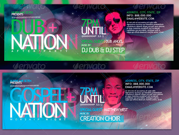 Dub Nation Gospel Nation Flyers and Event Tickets