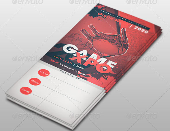 Game Expo Ticket Template