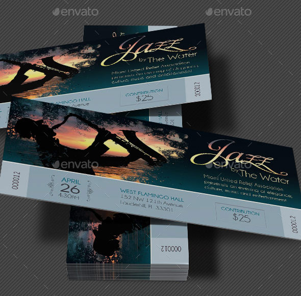 Jazz Concert Event Ticket