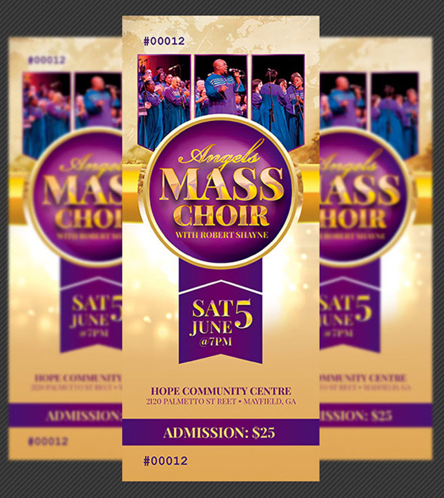 Mass Choir Concert Ticket Template