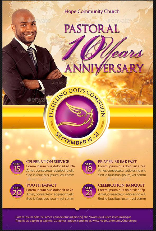 Anniversary Flyer   Pastor Appreciation Flyer Templates Graphicmule