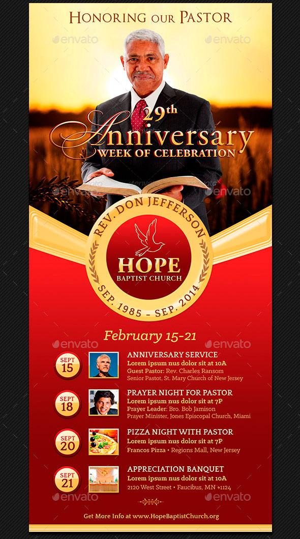 pastor anniversary flyer