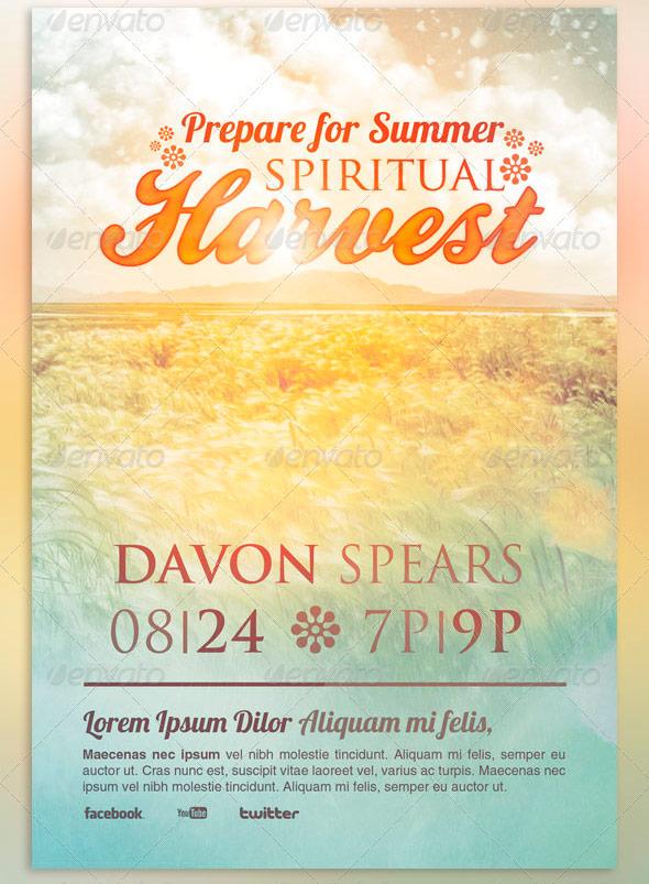 Spiritual Harvest Church Flyer Template