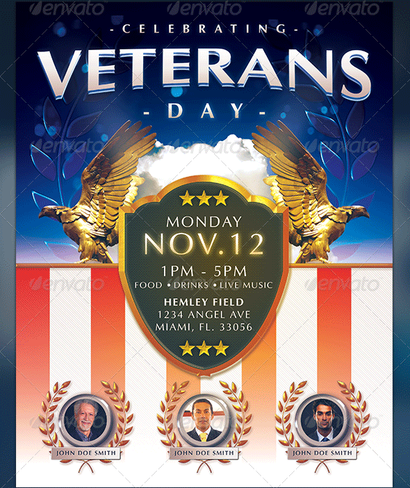 Veterans Day Flyer Templates Graphicmule