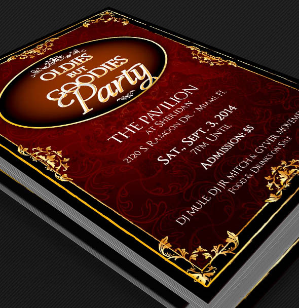 Free Oldies But Goodies Party Flyer Template | GraphicMule