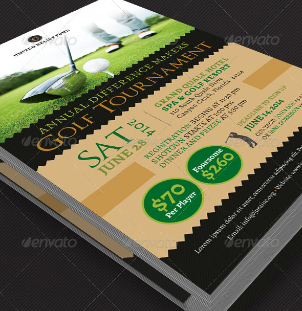 Charity Golf Tournament Flyer Template Graphicmule