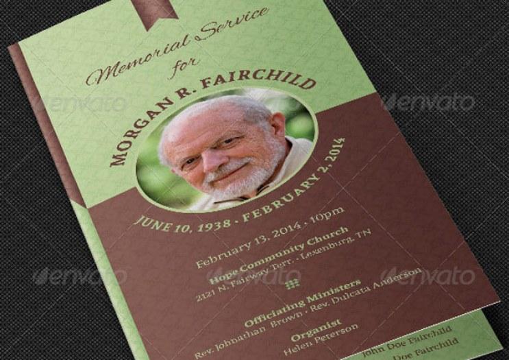 Bi-fold Funeral Program Template