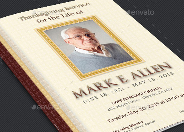 Legacy Funeral Service Program Template