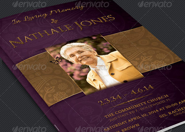 Royal Funeral Service Program Template