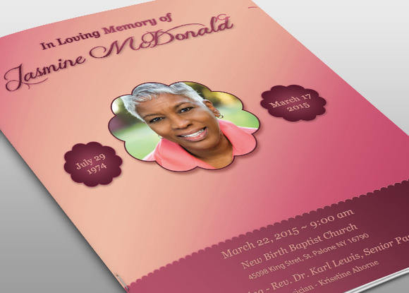 Memorial Funeral Program Obituary Templates
