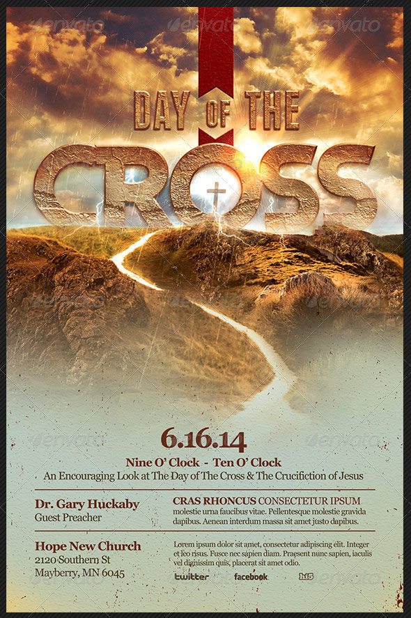 Day of The Cross Church Flyer Template