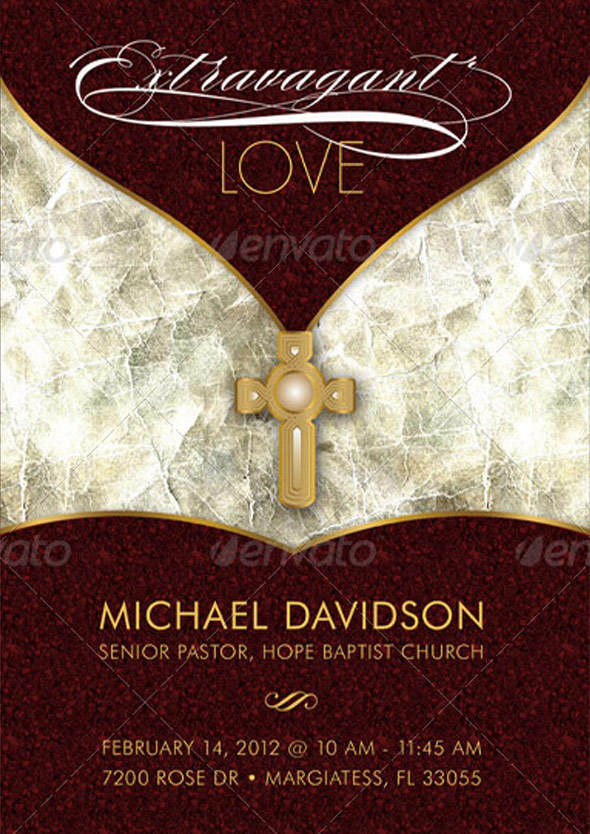 Extravagant Love Sermon Postcard and CD Template