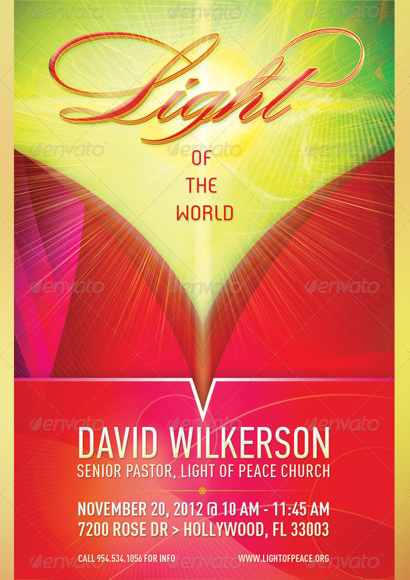 Light of The World Church Flyer Template