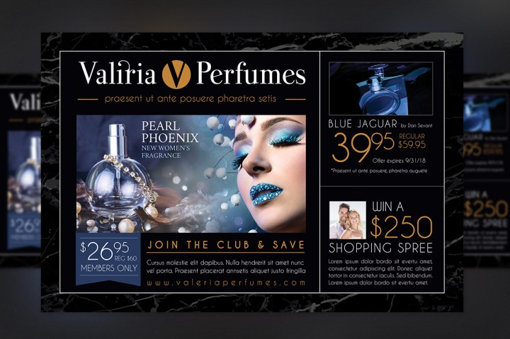 Perfume Club Flyer Template Jewelry Flyer Graphicmule