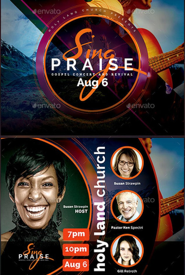 Sing Praise Gospel Concert Flyer