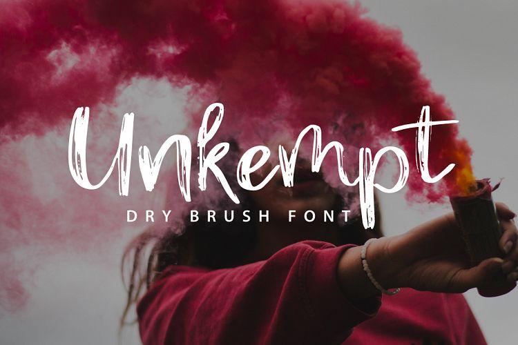 Unkempt Dry Brush Font