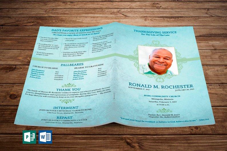 Funeral Programs for Men - Word