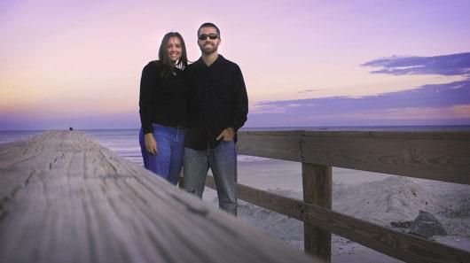 Photo of Kyler Burke and his wife Krystal