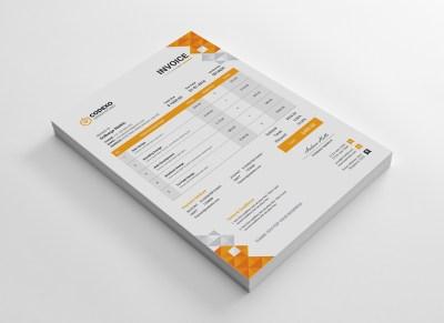 Ela Stylish Corporate Invoice Template