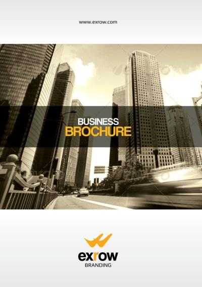 Flora Premium Business Bi-Fold Brochure Template