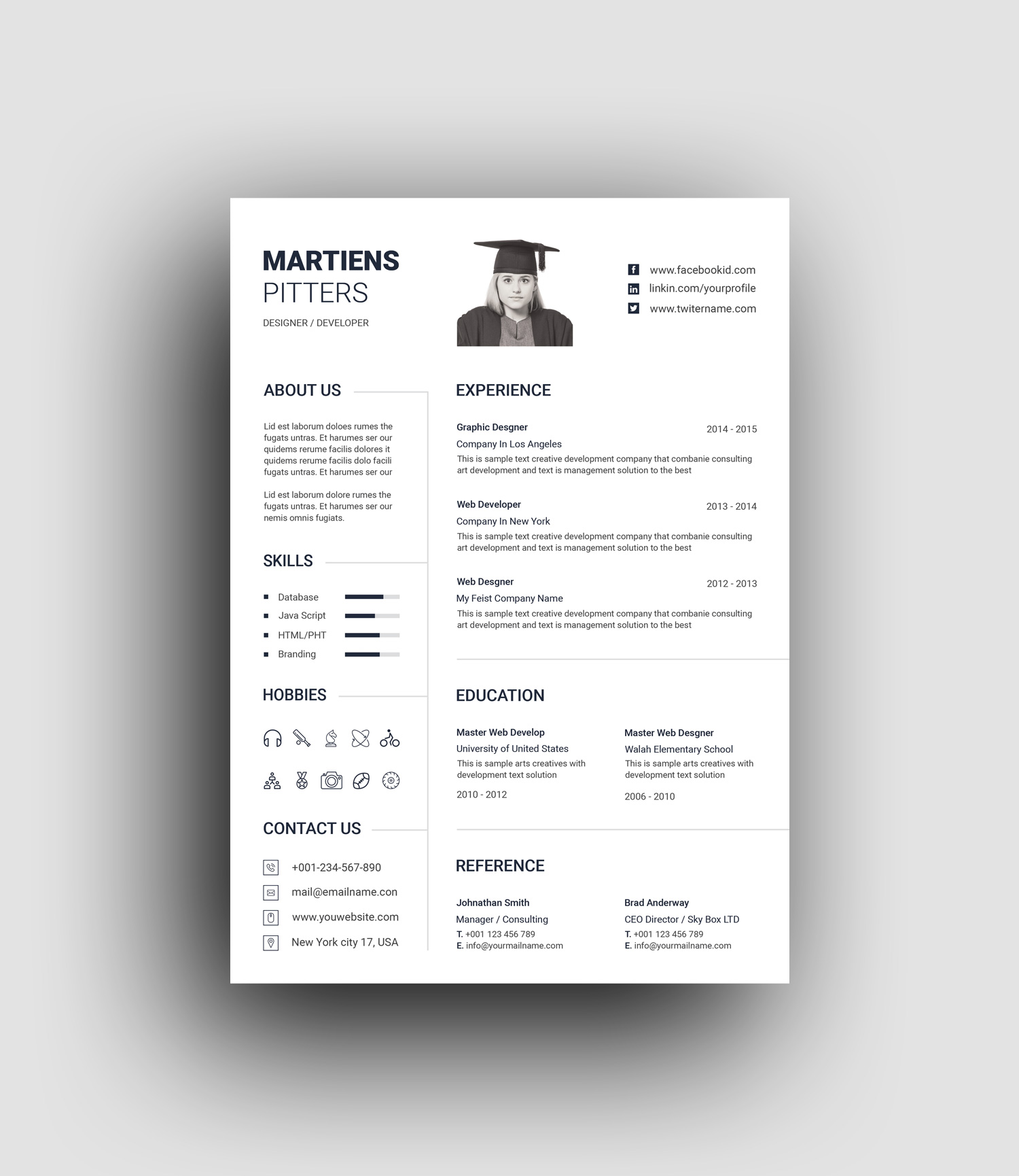 Minimalist Professional Resume Template Graphic Prime Graphic Design Templates,Pretty Light Pink Toe Nail Designs