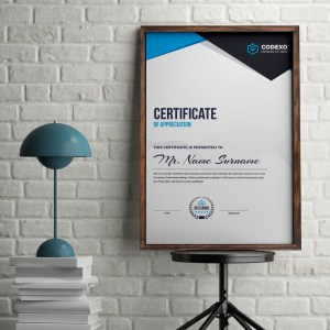 Nemesis Professional Portrait Certificate Template