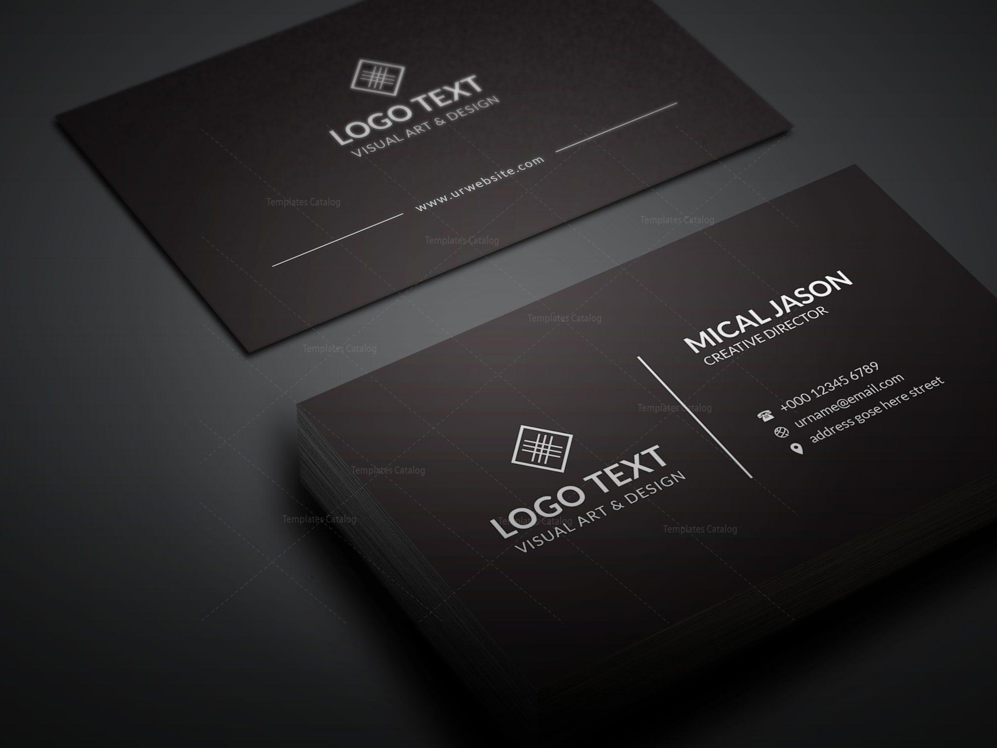 plain creative business card design  graphic prime
