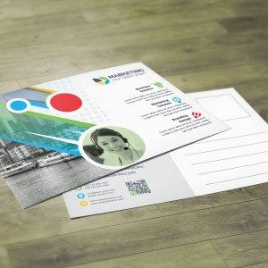 PSD Multi Color Postcard Template