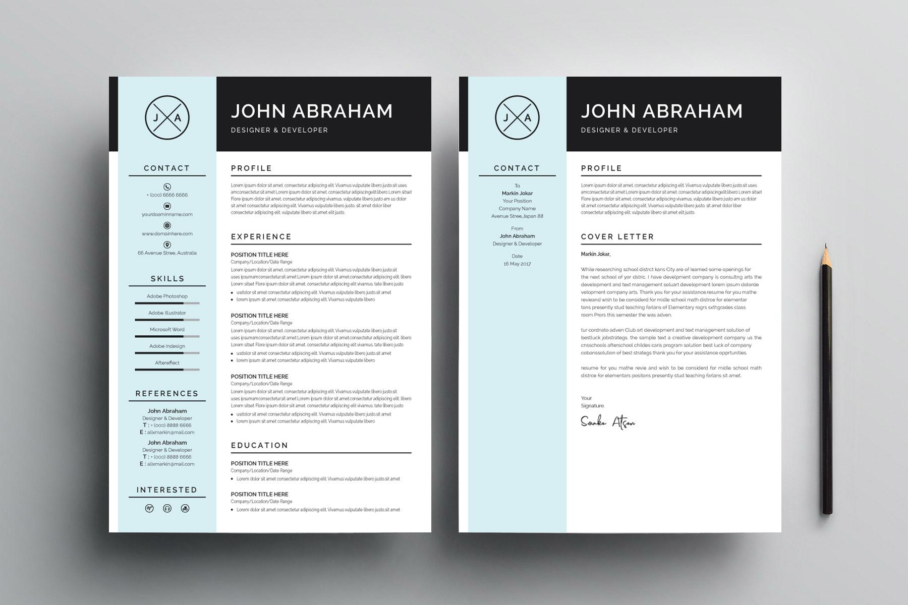 Sleek Resume Design Template Graphic Prime Graphic Design