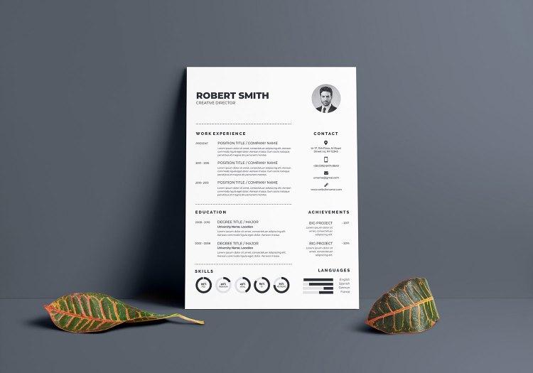 Regular Vector Resume Template
