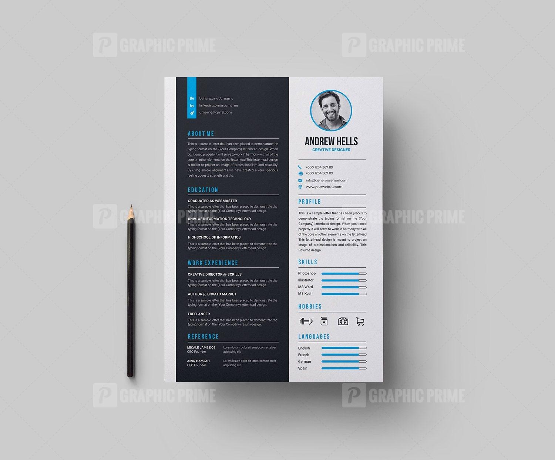 Creative Vector Resume Cv Design Graphic Prime Graphic Design