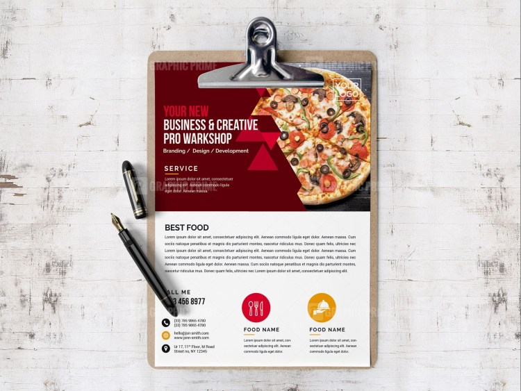PSD Pizza Flyer Design