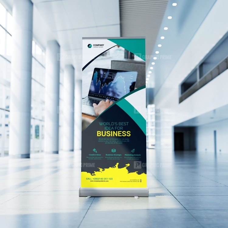 Simple Roll Up Banner Template