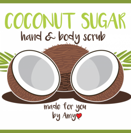 Body Scrub Label