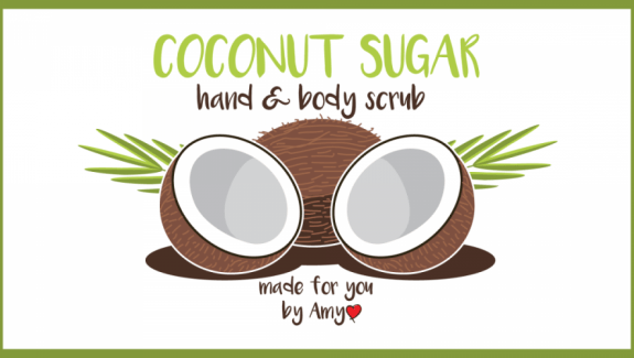 coconut scrub label