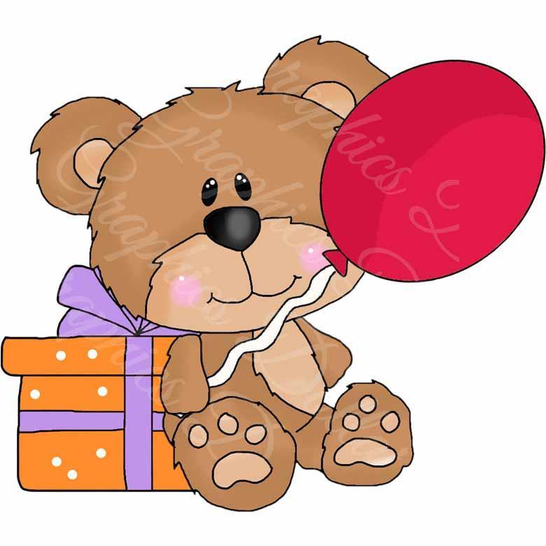 Cute Teddy Birthday Clip Art - Graphics Dollar (780 x 780 Pixel)