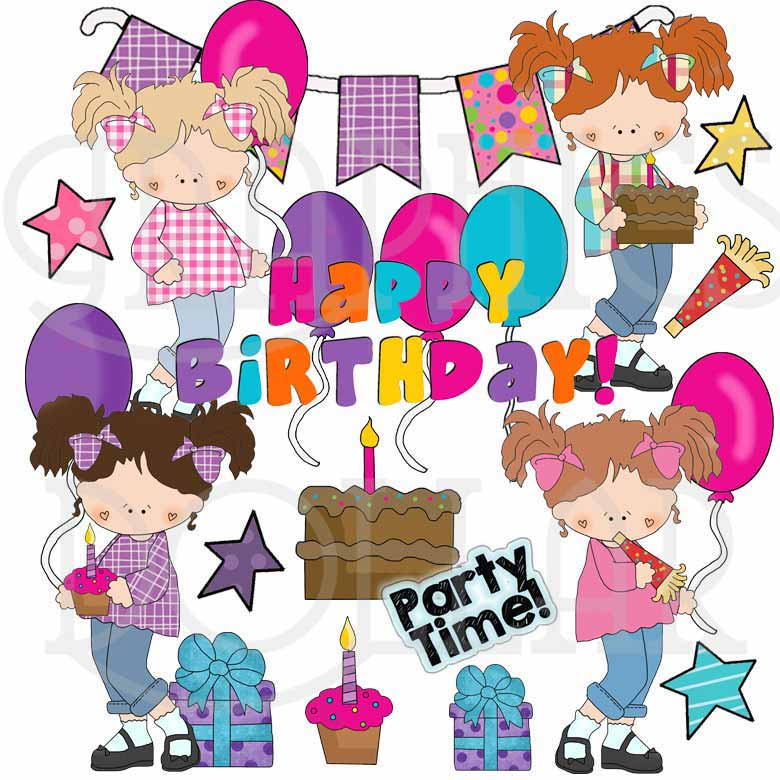 Birthday Girl Exclusive Clip Art Graphics Dollar
