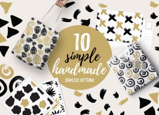 10 Simple Handmade Seamless Pattern