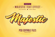 Majestic Text Effect