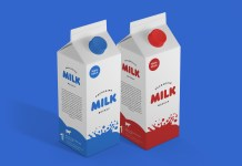 Milk Packaging Psd Mockup Vol1