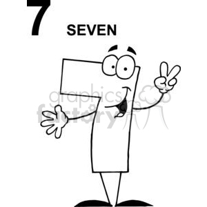 Happy Number 7 Cartoon Clipart Images And Clip Art