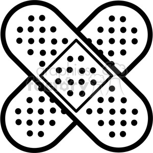 Royalty Free Band Aids Cross Outline 398287 Vector Clip