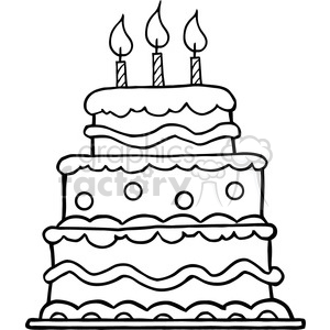 Black White Birthday Cake Clipart Commercial Use Gif Jpg Png Eps Svg Pdf Clipart 384331 Graphics Factory