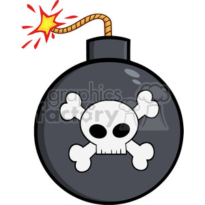 Royalty Free Rf Clipart Illustration Cartoon Bomb With Skull And Crossbones Clipart Commercial Use Gif Jpg Png Eps Svg Ai Pdf Clipart 395791 Graphics Factory