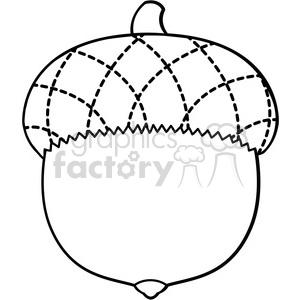 Clip Art Acorn Vector Illustration Outline Cartoon Clipart