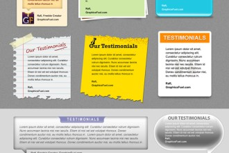 Download attractive client testimonial boxes in 8 PSD files