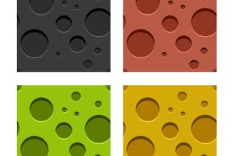 Seamless tileable patterns – engraved holes, wood and leather in 3 sets